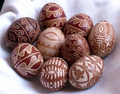 Hímestojás, késsel írott tojás, kapart tojás, karcolt tojás, pásztorművészet
